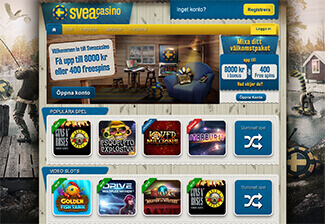 Svea casino screenshot